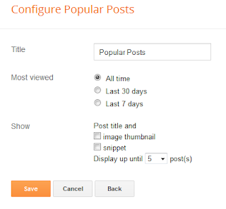 add popular post widget on blog