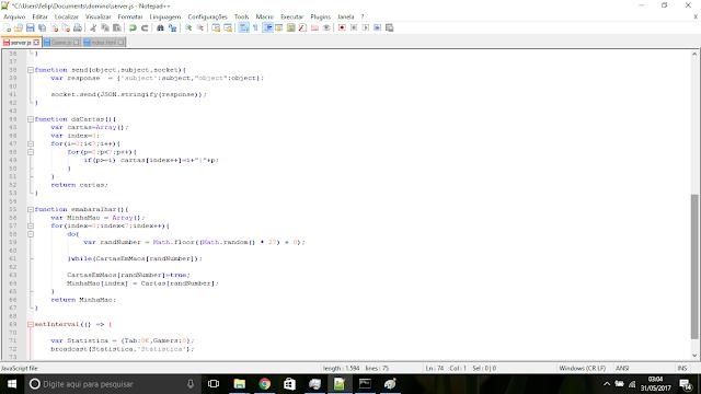 Dominó Código fonte