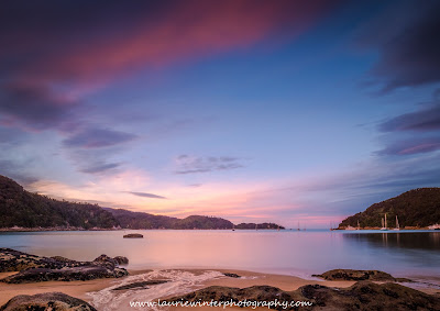 Beach Abel Tasman National Park Great Walk Anchorage Hut Sunset