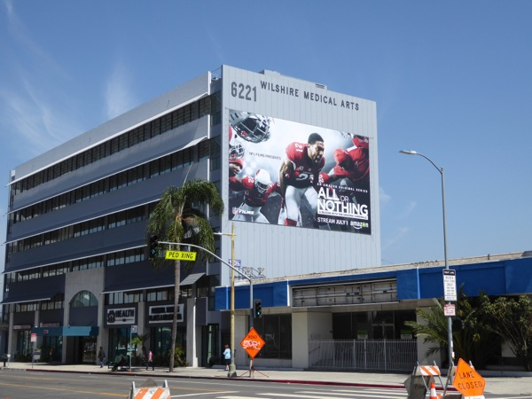 Giant All or Nothing series premiere billboard