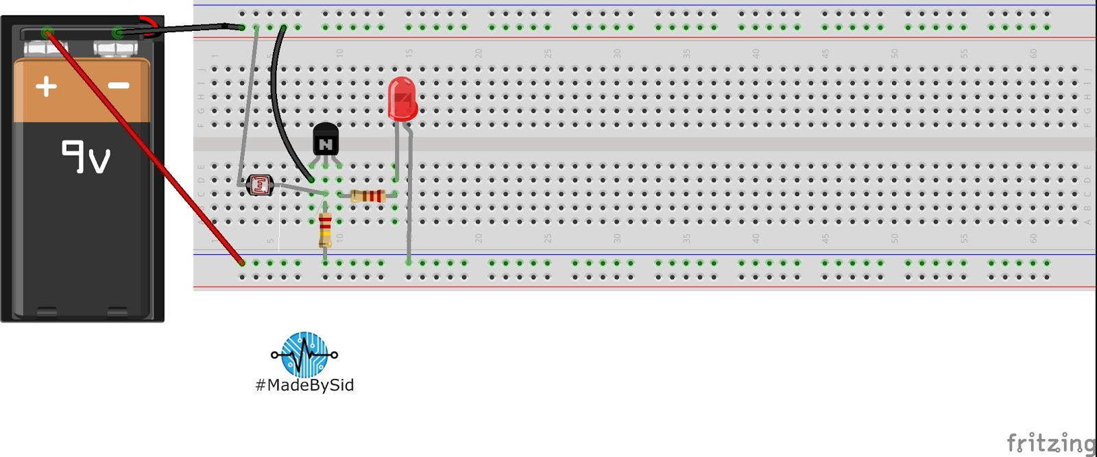 Simple Dark Sensor Circuit