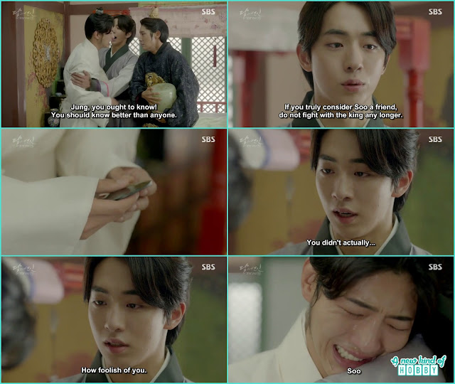 wang jung told wang so you can't take Hae Soo ashes she is my wife and baek ah ask jung if he is in love with Hae soo - Moon Lovers Scarlet Heart Ryeo - Episode 20 Finale (Eng Sub)