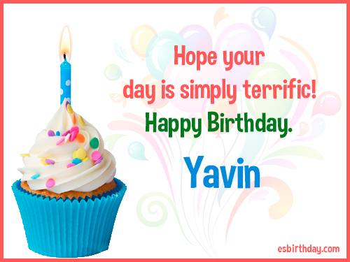 Yavin Happy Birthday