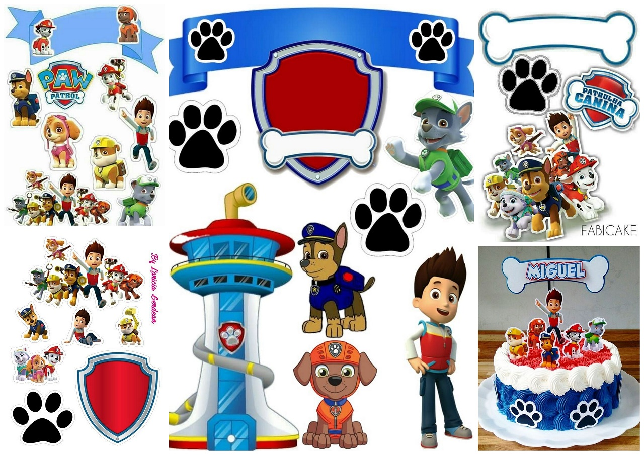 Paw Patrol Birthday Party Free Printable Cake Toppers Oh My Fiesta In English