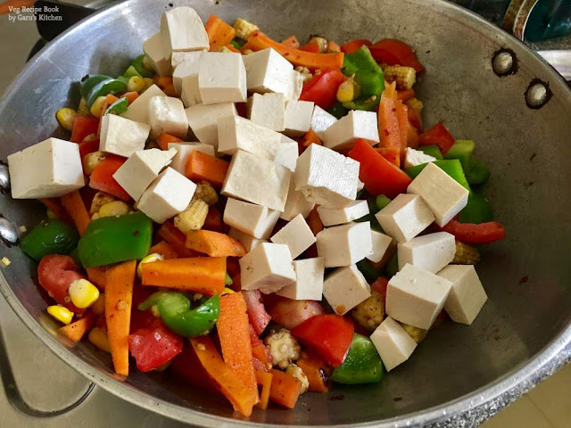 Tofu Veggie stir fry Recipe | Tofu Vegetable Salad Recipe | Vegetable Salad Recipe