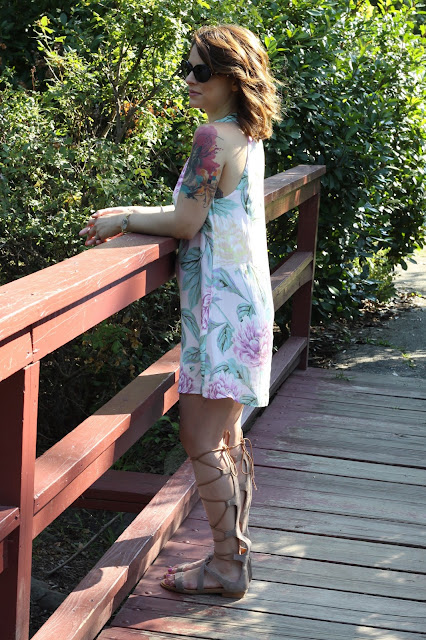 floral dress, Susan Padron, personal stylist