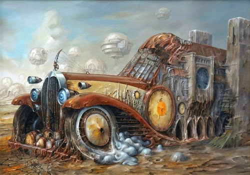 16-Jarosław-Jaśnikowski-Surreal-Paintings-of-Fantastic-Realism-www-designstack-co