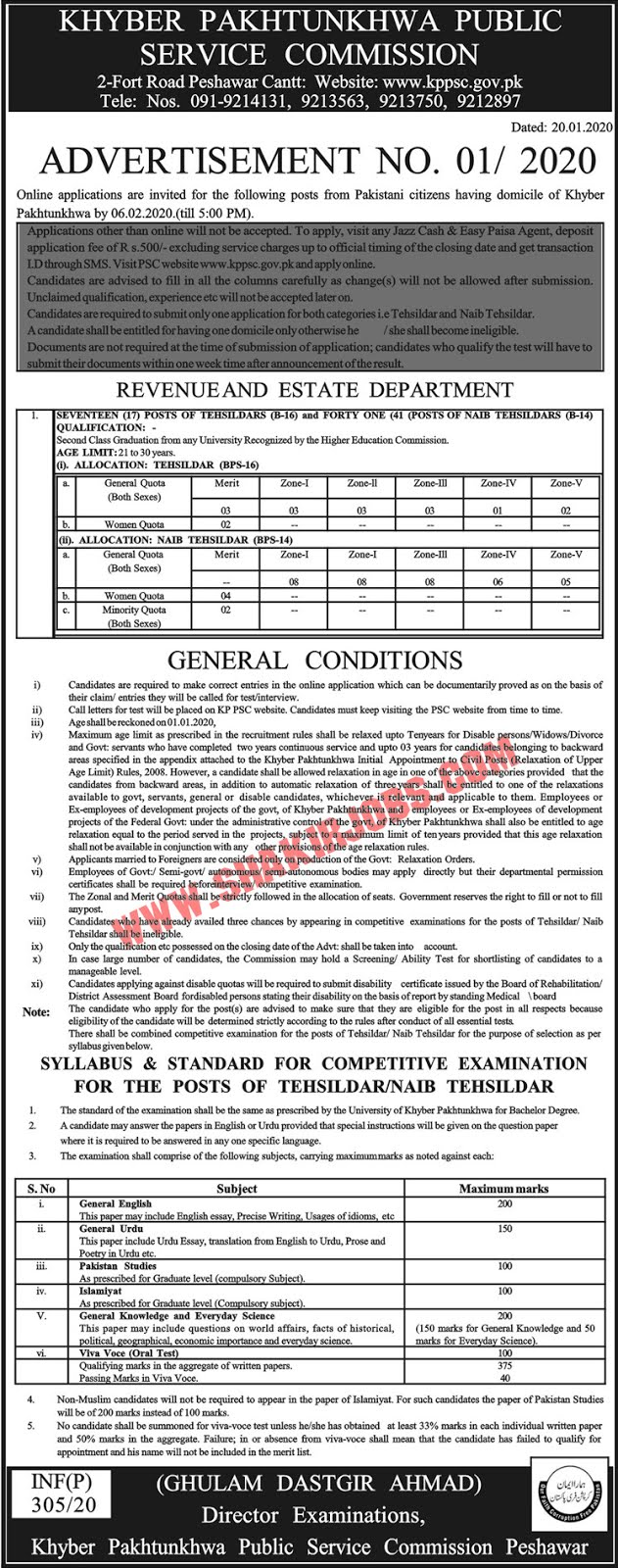KPPSC Jobs 2020 KPK Public Service Commission Jobs Apply Online