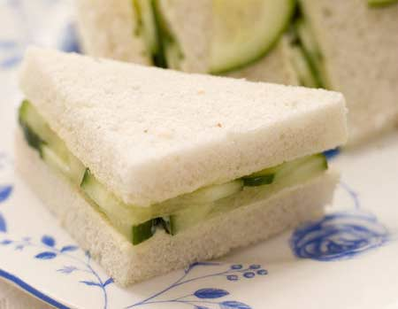 cucumber sandwiches for a tea party bridal shower