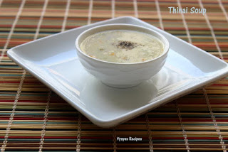 Thinai Vegetable Soup -  Millets Soup - Foxtail Millet  Soup