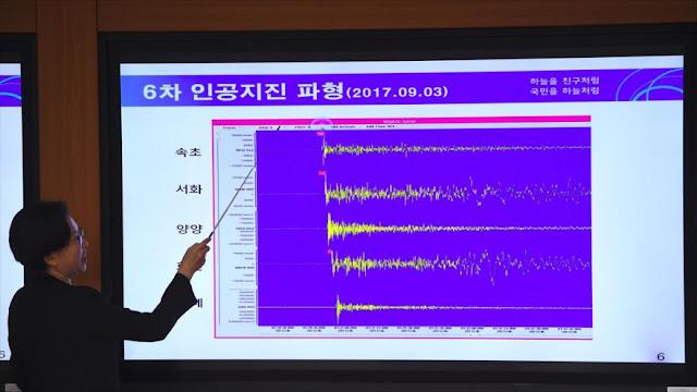 ¿Terremoto o explosión por prueba nuclear en Corea del Norte?