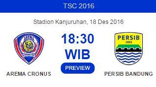 Preview Persib Bandung vs Arema Cronus 18 Desember 2016