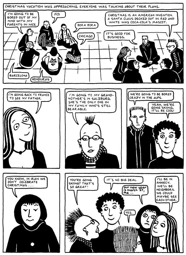 Read Chapter 2 - Tyrol, page 14, from Marjane Satrapi's Persepolis 2 - The Story of a Return