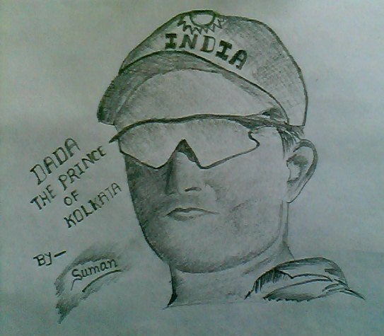 Oporadhi 192kps Downlode: Sourav Ganguly Sketch-i Have Drawn This