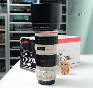 Lensa Canon 70-200 F4 L bekas