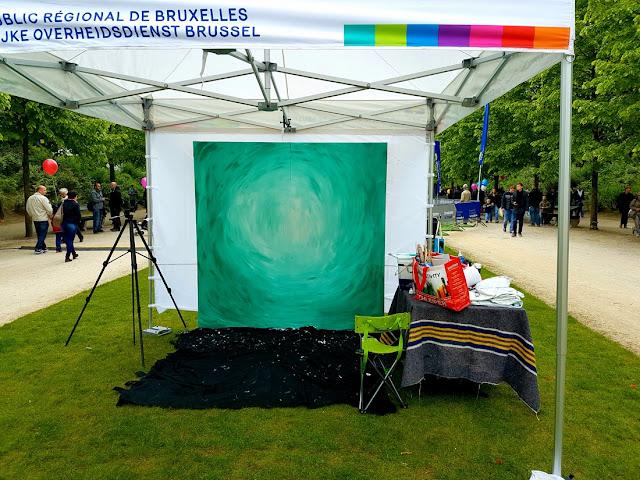 Fete de l'Iris - Peinture - Visages - Flesh and Acrylic - Ben Heine Art - Live Performance -25