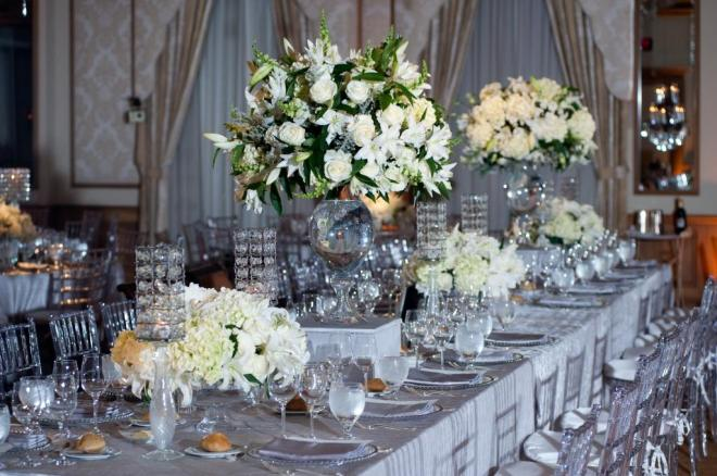 Silver And White Wedding Table Decorations Reference For Decoration