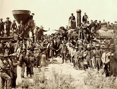 First Transcontinental Railroad East and West The Champagne Photo
