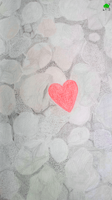 przerobiony obrazek rysunku; rok dwóch żywiołów, Budka Suflera, kamień i serce