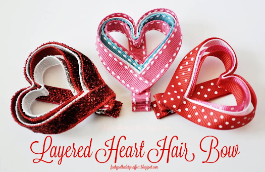 valentine heart hair bow