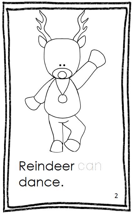 Classroom Freebies Too: Reindeer Fiction Book