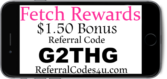 $1.50 Bonus Fetch App Referral Code, Sign up Bonus and Reviews
