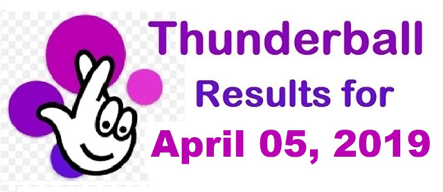 Thunderball results for Friday, April 05, 2019
