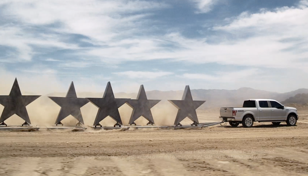 Mac Premo brings his high energy all in-camera practical approach to Ford's new F-150 ad campaign