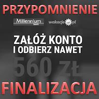 Finalizacja promocji Money mania 100 z kontem w Banku Millennium