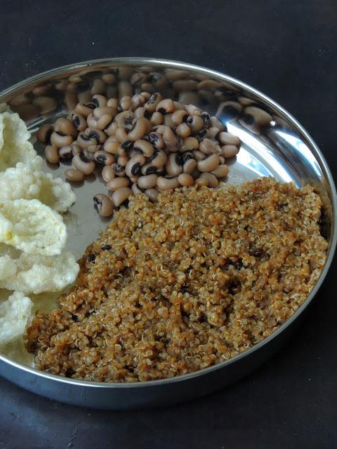 Fusion No Onion No Garlic Vatha Kuzhambu Quinoa