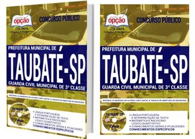 Apostila Prefeitura de Taubaté 2018 Guarda Civil Municipal