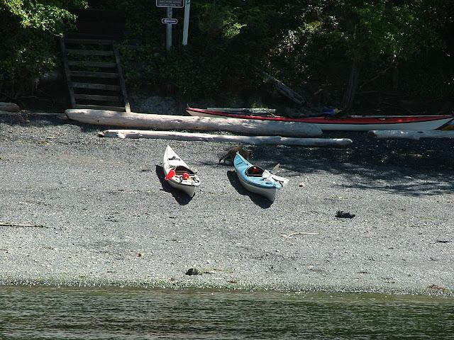 Sail and human powered campground at James Island