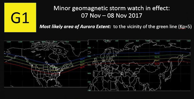 minor geomagnetic storm expected to hit earth november 7 8