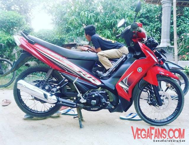 Modifikasi Vega RR Merah Modif Standar
