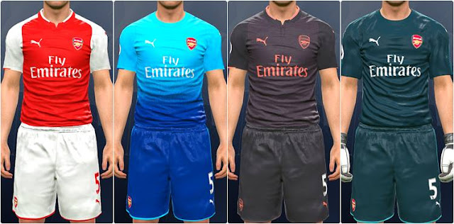 Arsenal 2017-18 Kit PES 2017