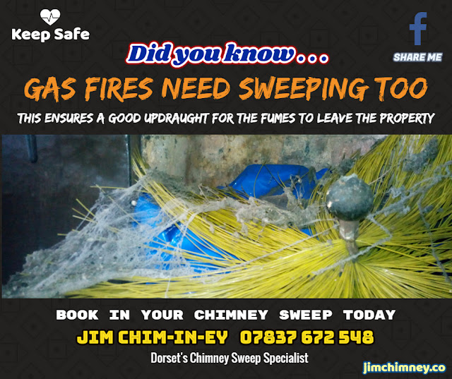 Gas Fires need sweeping by a chimney sweep 02