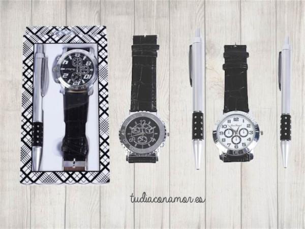 Set de boli y reloj con un estilo moderno y elegante, es el detalle perfecto para hombre
