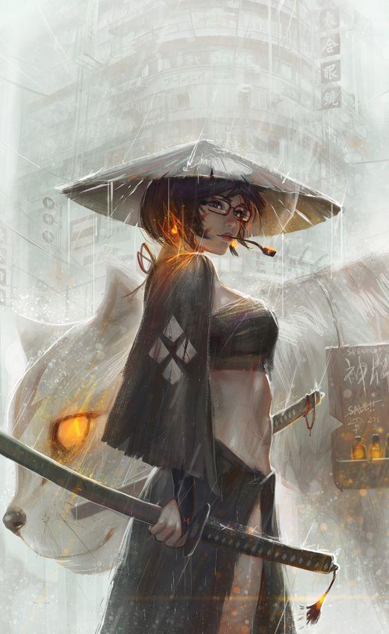 Hình nền tranh vẽ nghệ thuật, Anime Art, WLOP Art Girl