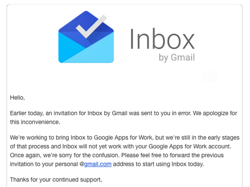 Quand Inbox by Gmail bogue