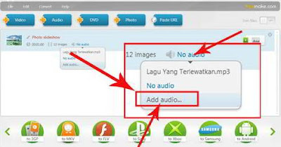 Edit Foto Jadi Video Berlagu Online