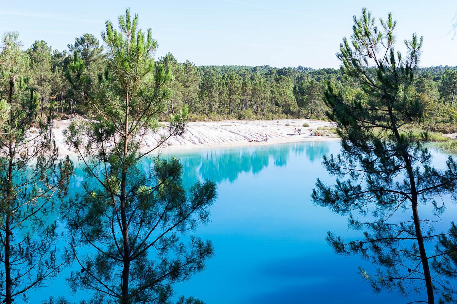 étangs bleus lagons