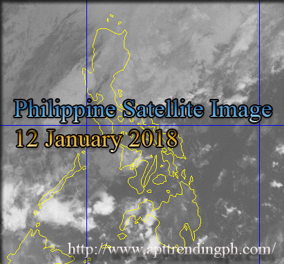 Philippine weather image taken via PAGASA Weather Satellite, HIMAWARI as of 4:00 AM, 12 January 2018.