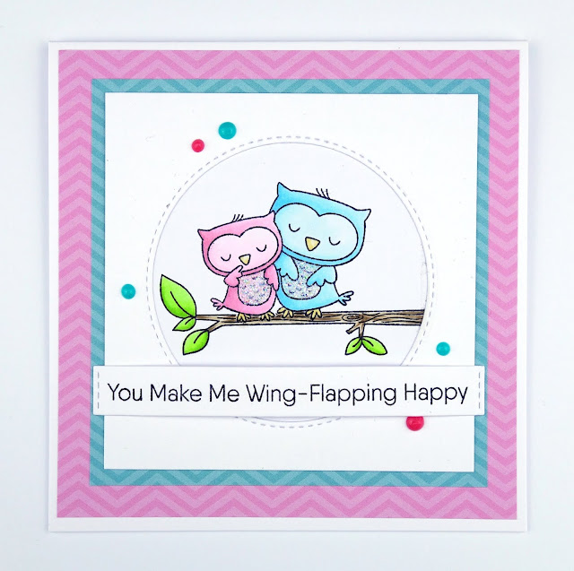 Cute owl couple card using Forever and Owlways stamps from MFT