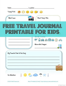 Travel journal Printables by We 3 Travel
