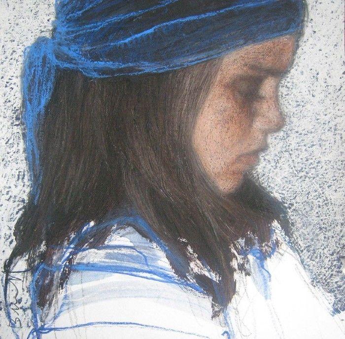 Фигуративные картины и портреты пастелью. Sophie Burbaloff