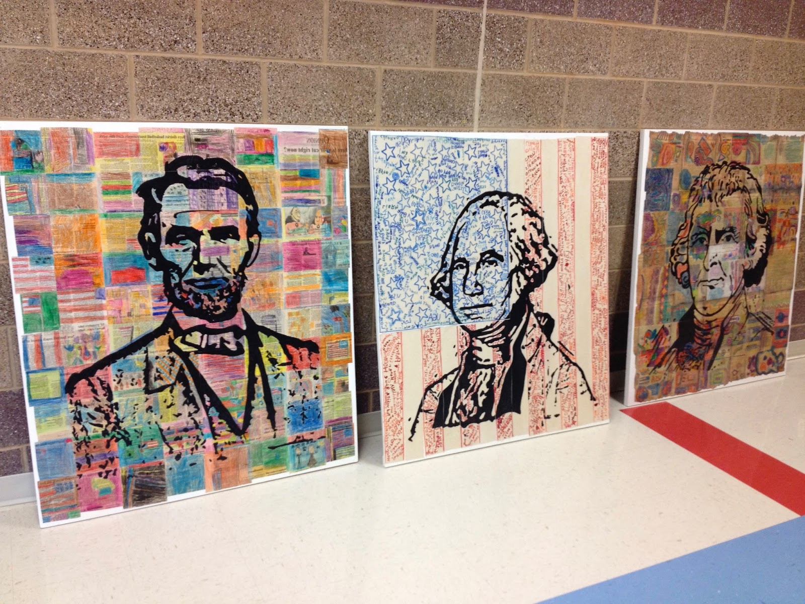 Presidents' Day art project