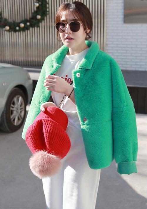 Solid Tone Fuzzy Jacket