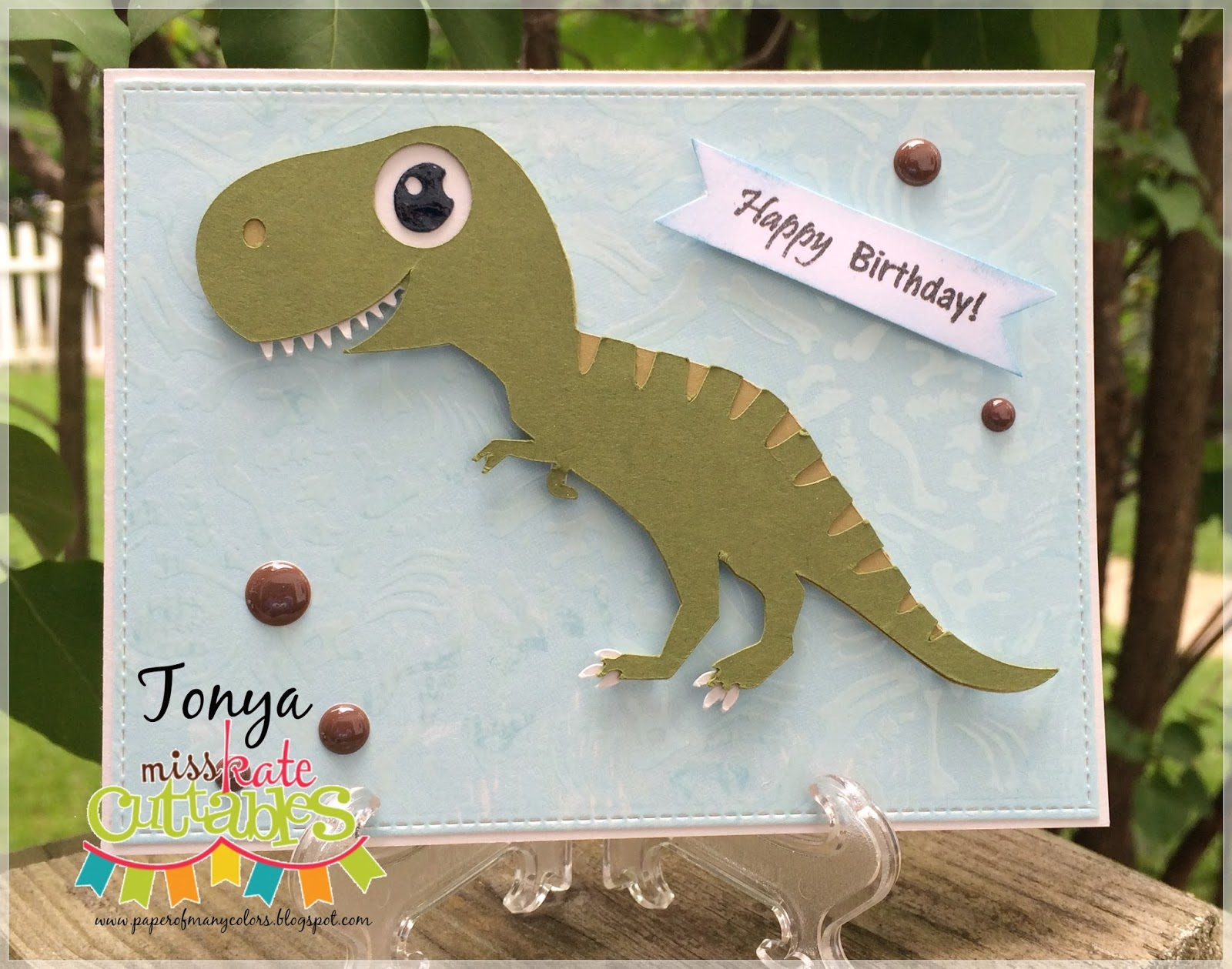 Paper Of Many Colors Happy Birthday Dinosaur
