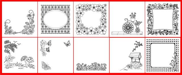 FREE 15 floral templates for socialmedia