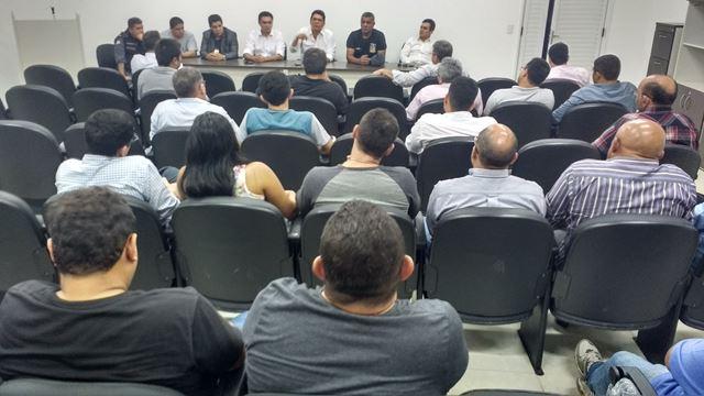 Gestores da SSP durante visita a autoridades no interior do Maranhão
